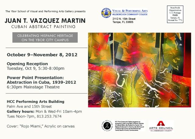 Juan T. Vazquez Martin Exhibition Celebratin the Hispanic Heritage
