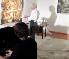 Painting and paino art show