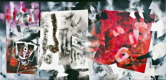 El paraiso o el Infierno, 38x79in/96x200cm. Artist Price on request here./Solicitud de precio al artista aqui