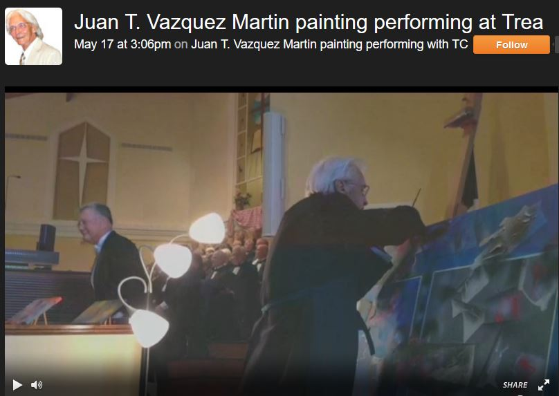 click on to watch Painting and Music Performance