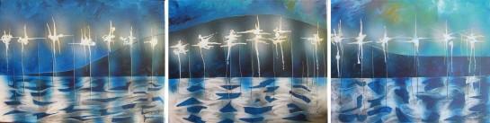 Jensen Beach Causeway Bridge triptych. Artist Price on request here.